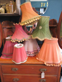 Collection of vintage/1950s lamp shades £10 - £25