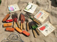 Garden tools and bulb adverts etc