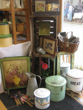 Our Vintage Treasures stall at Toddington Vintage Fair