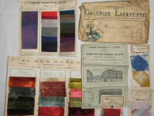 vintage French fabric swatches